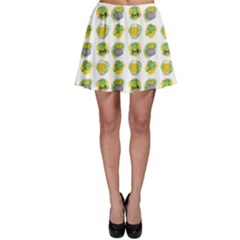 St Patrick s Day Background Symbols Skater Skirt by Simbadda
