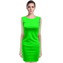 Decorative Corners Sleeveless Velvet Midi Dress