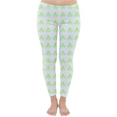 Shamrock Irish St Patrick S Day Classic Winter Leggings by Simbadda