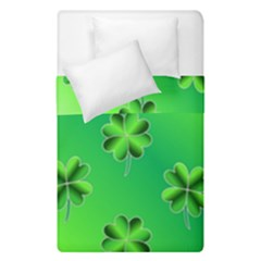 Shamrock Green Pattern Design Duvet Cover Double Side (single Size) by Simbadda