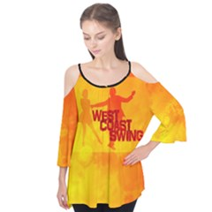 West Coast Swing Flutter Sleeve Tee
