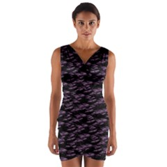Purple Snakeskin Wrap Front Bodycon Dress by ChihuahuaShower
