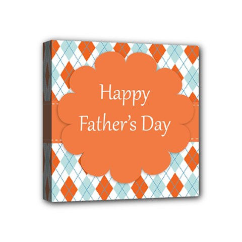 Happy Father Day  Mini Canvas 4  X 4  by Simbadda