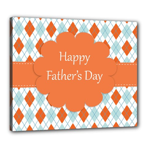 Happy Father Day  Canvas 24  X 20  by Simbadda