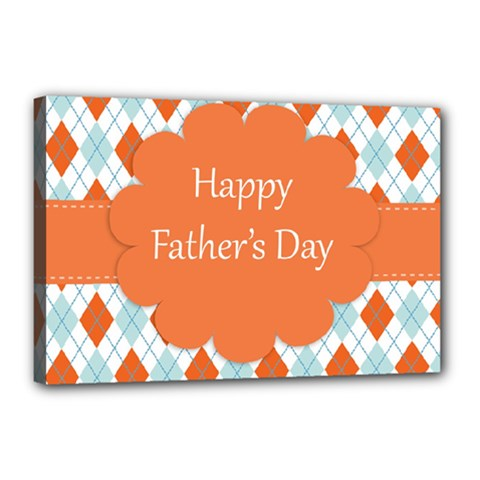 Happy Father Day  Canvas 18  X 12  by Simbadda