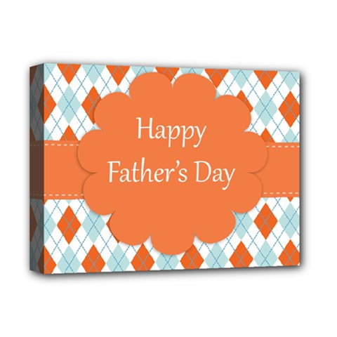 Happy Father Day  Deluxe Canvas 16  X 12   by Simbadda