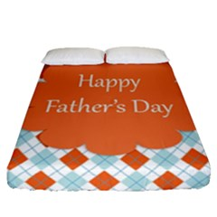 Happy Father Day  Fitted Sheet (queen Size) by Simbadda