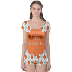 Happy Father Day  Boyleg Leotard  by Simbadda