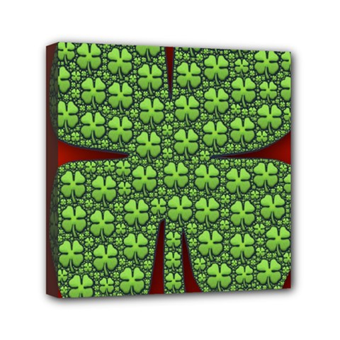 Shamrock Irish Ireland Clover Day Mini Canvas 6  X 6  by Simbadda