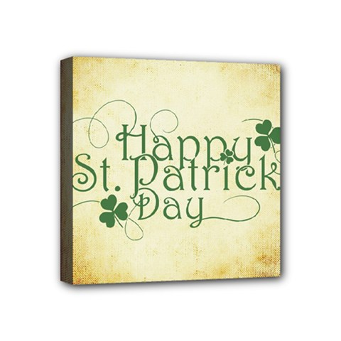 Irish St Patrick S Day Ireland Mini Canvas 4  X 4  by Simbadda