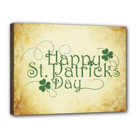 Irish St Patrick S Day Ireland Canvas 16  X 12  by Simbadda