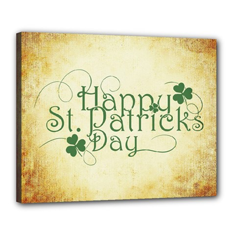 Irish St Patrick S Day Ireland Canvas 20  X 16  by Simbadda