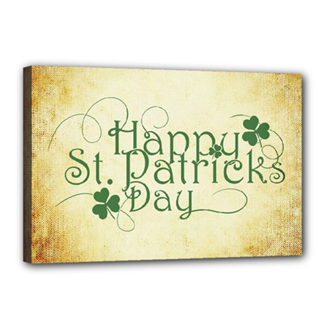 Irish St Patrick S Day Ireland Canvas 18  X 12  by Simbadda