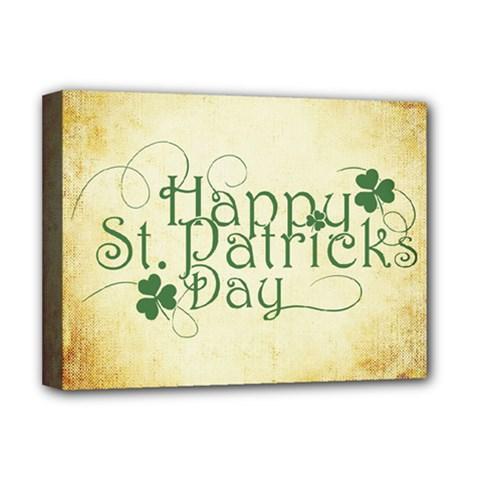 Irish St Patrick S Day Ireland Deluxe Canvas 16  X 12   by Simbadda