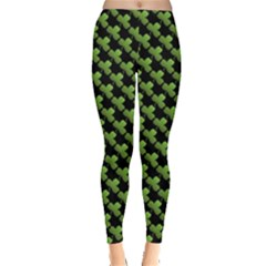 St Patrick S Day Background Leggings  by Simbadda