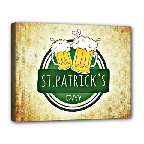 Irish St Patrick S Day Ireland Beer Canvas 14  X 11  by Simbadda