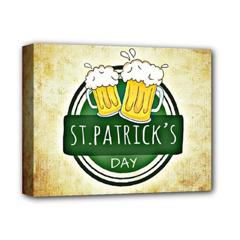 Irish St Patrick S Day Ireland Beer Deluxe Canvas 14  X 11  by Simbadda