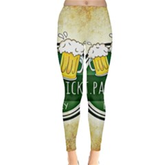 Irish St Patrick S Day Ireland Beer Classic Winter Leggings by Simbadda