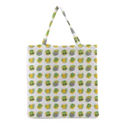 St Patrick S Day Background Symbols Grocery Tote Bag by Simbadda
