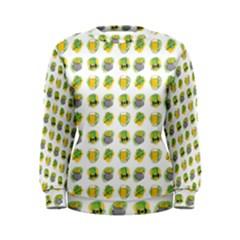 St Patrick S Day Background Symbols Women s Sweatshirt