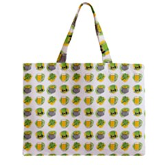 St Patrick S Day Background Symbols Zipper Mini Tote Bag