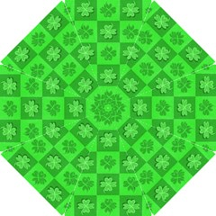 Fabric Shamrocks Clovers Hook Handle Umbrellas (medium)