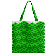 Shamrocks 3d Fabric 4 Leaf Clover Zipper Grocery Tote Bag by Simbadda