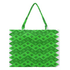 Shamrocks 3d Fabric 4 Leaf Clover Medium Tote Bag by Simbadda