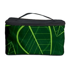 Vector Seamless Green Leaf Pattern Cosmetic Storage Case by Simbadda