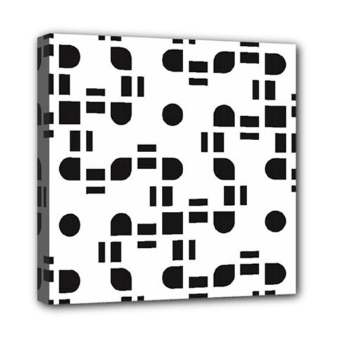Black And White Pattern Mini Canvas 8  X 8  by Simbadda