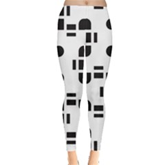 Black And White Pattern Leggings  by Simbadda