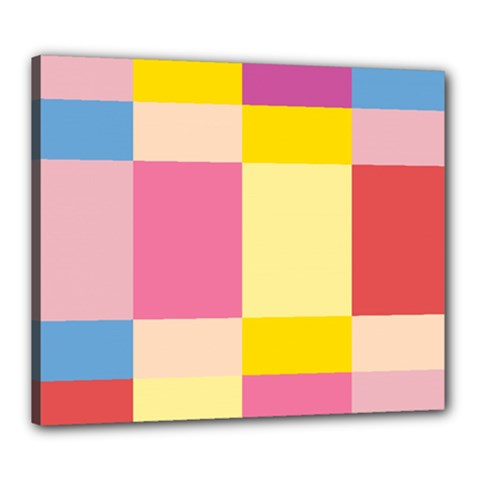 Colorful Squares Background Canvas 24  X 20  by Simbadda