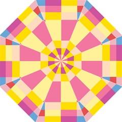 Colorful Squares Background Hook Handle Umbrellas (medium) by Simbadda