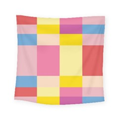 Colorful Squares Background Square Tapestry (small) by Simbadda