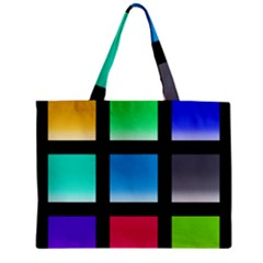Colorful Background Squares Zipper Mini Tote Bag
