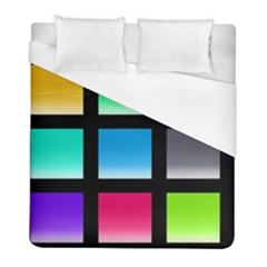 Colorful Background Squares Duvet Cover (full/ Double Size) by Simbadda