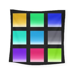 Colorful Background Squares Square Tapestry (small) by Simbadda