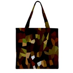 Crystallize Background Zipper Grocery Tote Bag by Simbadda