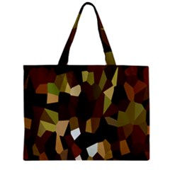 Crystallize Background Zipper Mini Tote Bag by Simbadda