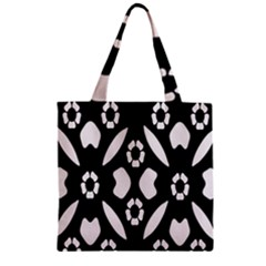 Abstract Background Pattern Zipper Grocery Tote Bag by Simbadda