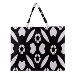 Abstract Background Pattern Zipper Large Tote Bag by Simbadda