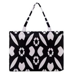 Abstract Background Pattern Medium Zipper Tote Bag by Simbadda