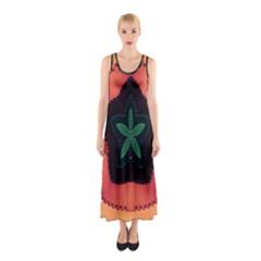 Fractal Flower Sleeveless Maxi Dress