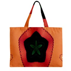 Fractal Flower Zipper Mini Tote Bag by Simbadda