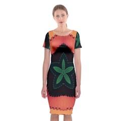 Fractal Flower Classic Short Sleeve Midi Dress