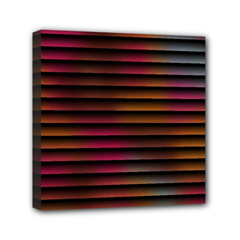 Colorful Venetian Blinds Effect Mini Canvas 6  X 6  by Simbadda