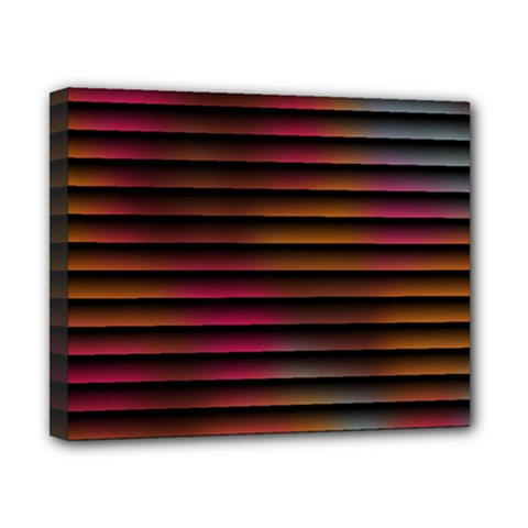 Colorful Venetian Blinds Effect Canvas 10  X 8  by Simbadda