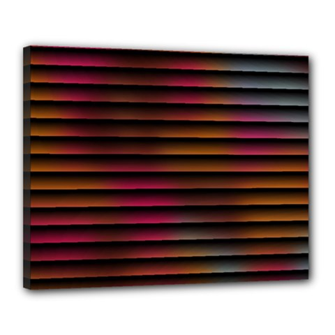 Colorful Venetian Blinds Effect Canvas 20  X 16  by Simbadda