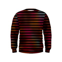 Colorful Venetian Blinds Effect Kids  Sweatshirt