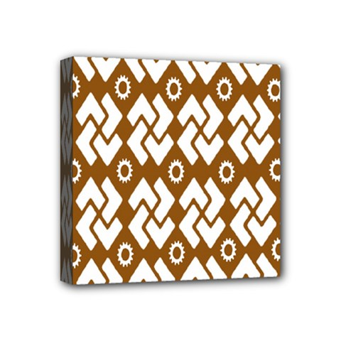 Art Abstract Background Pattern Mini Canvas 4  X 4  by Simbadda